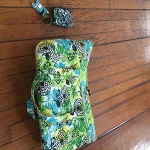 New  tags Vera Bradley large laptop tote Lime's Up